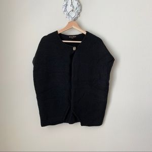Forever 21 black open front poncho / cardigan